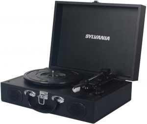 best vinyl record player with speakers